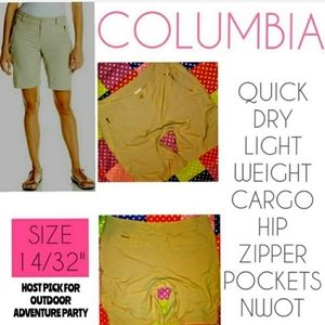 Columbia Shorts Size 14 Cargo Bermuda Dry Fit